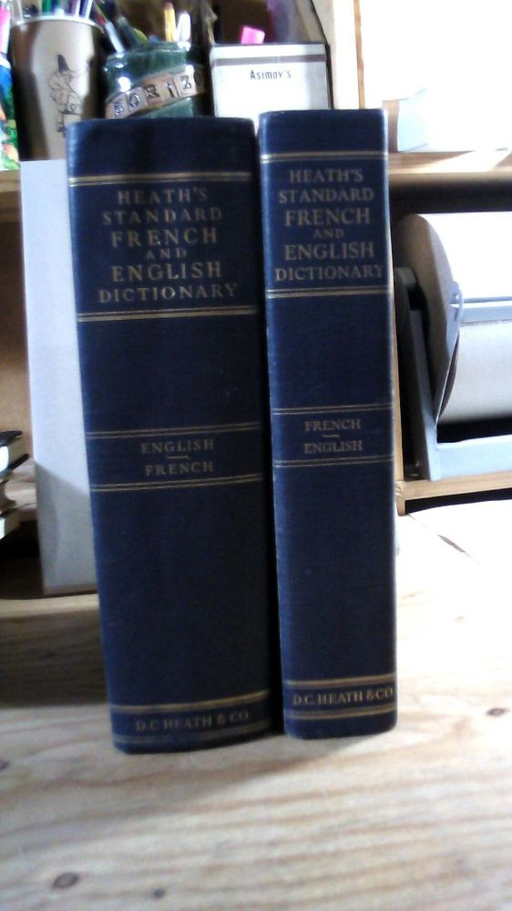 Heath's Standard French and English Dictionary. 2 Volumes: Part One French - English, Part Two English - French with Supplement (1962). J. E. MANSION.