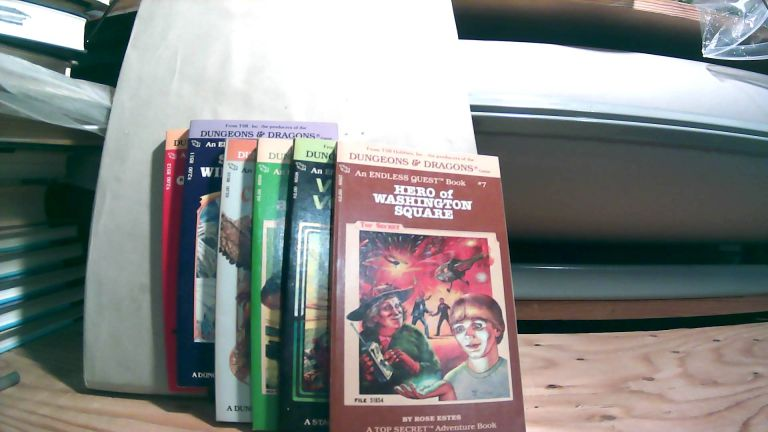 Hero of Washington Square, Villians of Volturnus, Robbers and Robots, Circus of Fear, Spell of the Winter Wizard, and Light on Quests Mountain; Dungeons & Dragons Endless Quest Books No. 7-12. Six volume set. Rose ESTES, Jean BLASHFIELD, Mike CARR, Linda LOWERY, Mary L. KIRCHOFF, James M. WARD.