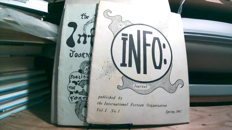 The Info Journal. Vol. 1 No. Spring 1967 and Vol. 1 No. 2 Autumn 1967. Two volume set.
