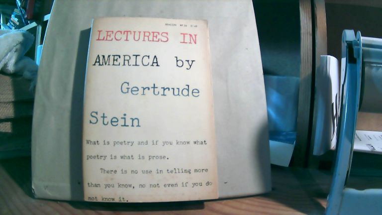Lectures in America. Gertrude STEIN.