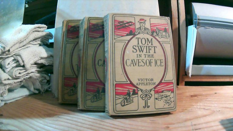 Tom Swift In The Caves Of Ice, Tom Swift In Captivity, and Tom Swift And His Big Tunnel. Collection of 3 books. VIctor APPLETON.
