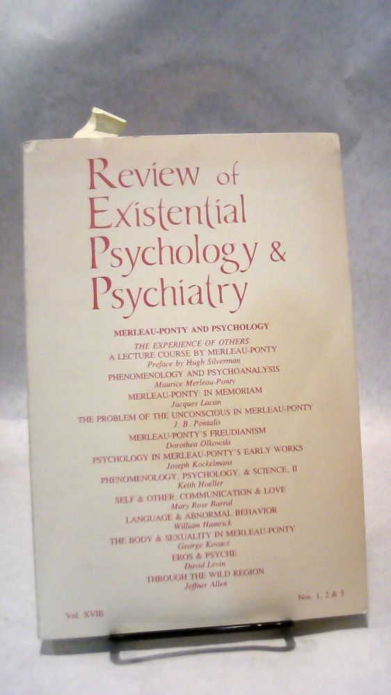 REVIEW OF EXISTENTIAL PSYCHOLOGY AND PSYCHIATRY Vol  XVIII, Nos  1, 2, & 3  by Keith PERIODICAL HOELLER on Horizon Books