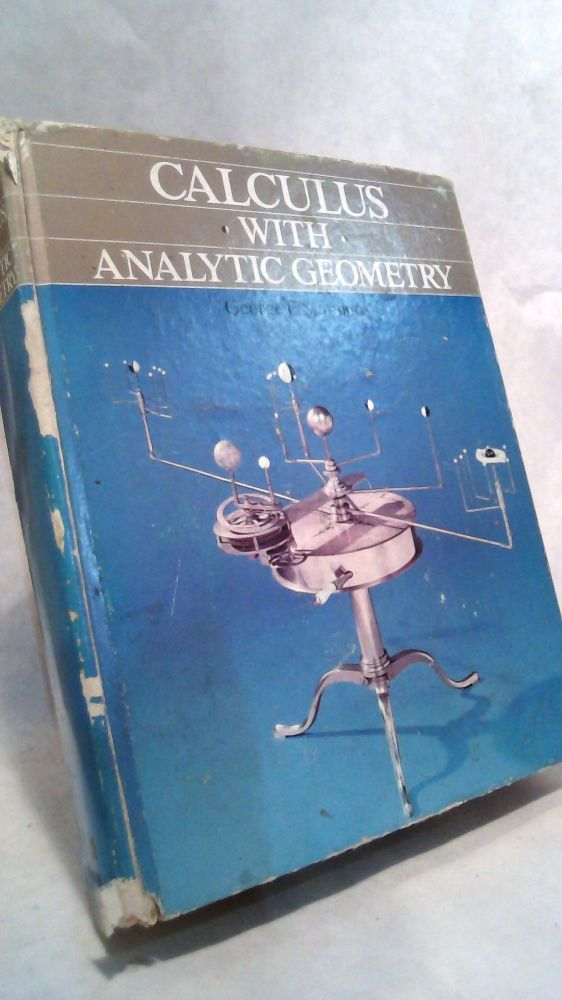 Calculus With Analytic Geometry. George F. Simmons.