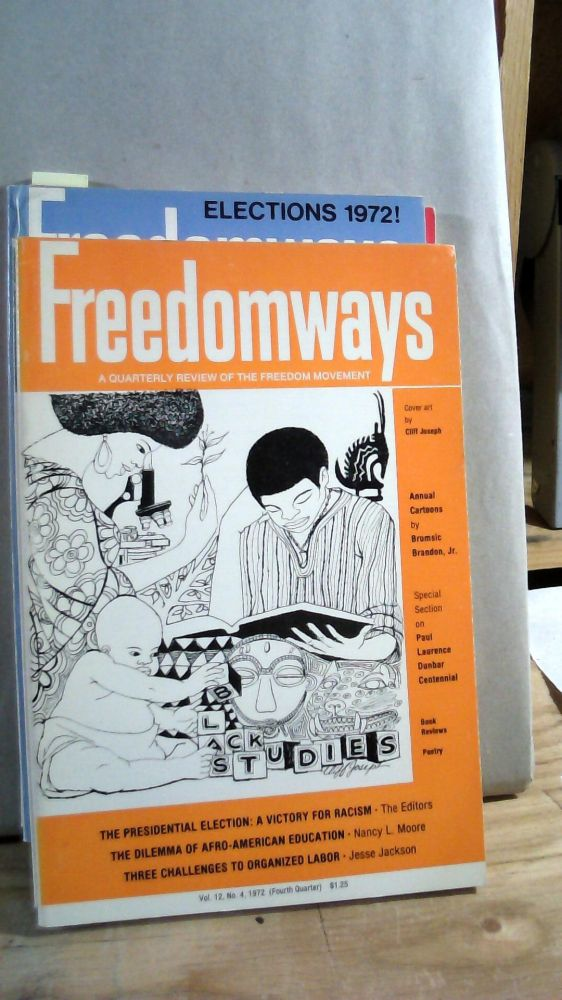 Freedomways A Quarterly Review of the Freedom Movement Vol. 12 Nos. 1-4 1972 Set of 4 magazines.