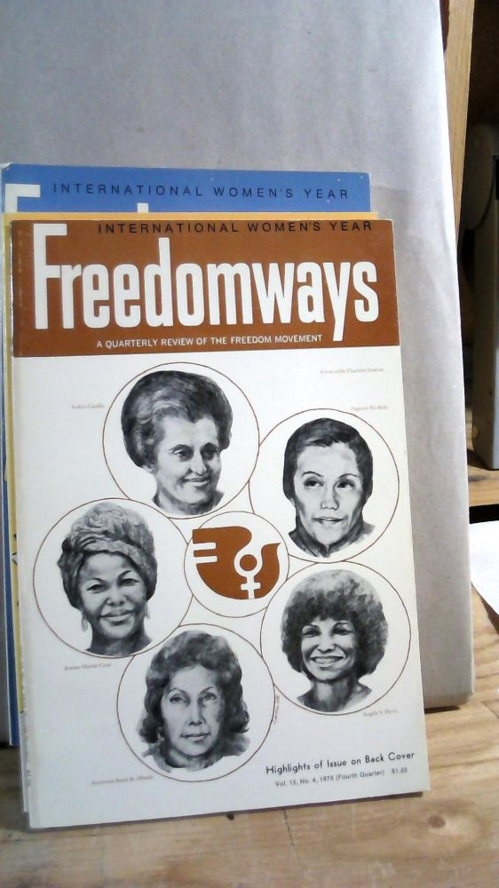 Freedomways A Quarterly Review of the Freedom Movement Vol.15 Nos. 1-4 1975. Set of 4 magazines.