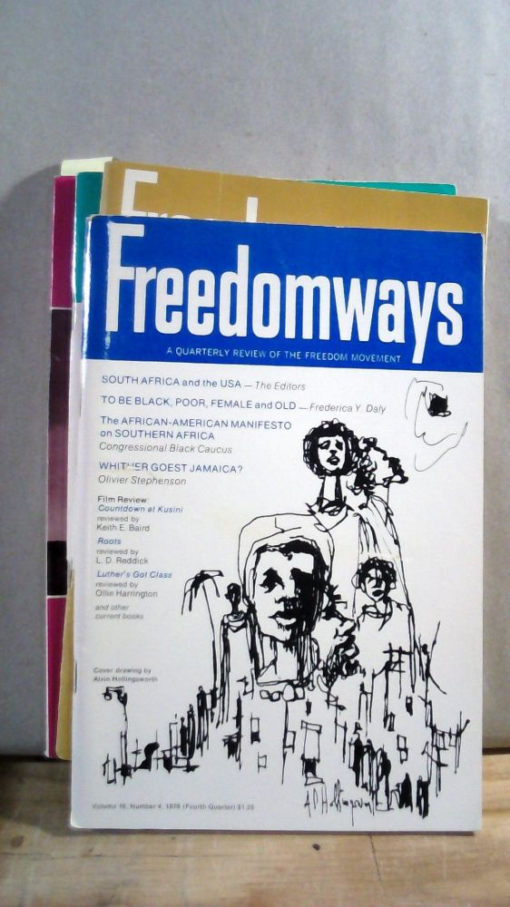 Freedomways A Quarterly Review of the Freedom Movement Vol. 16 Nos. 1-4 1976. Set of 4 magazines.
