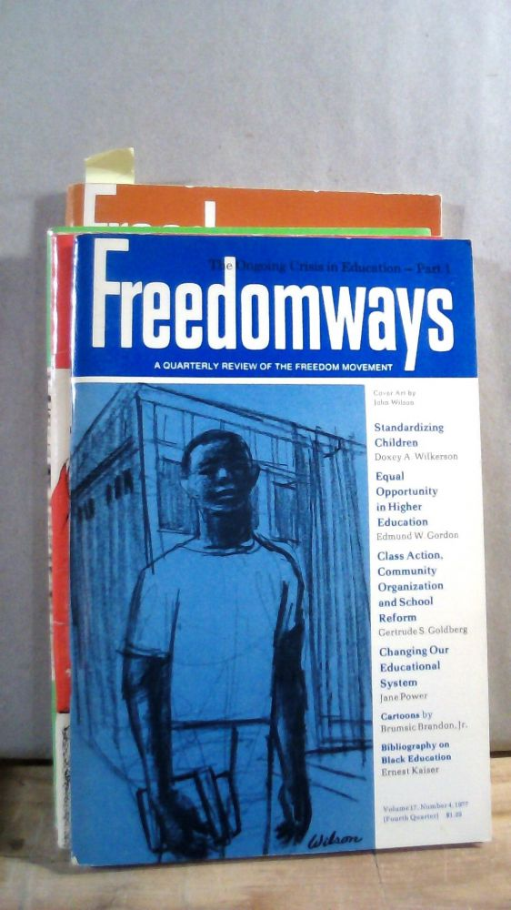 Freedomways A Quarterly Review of the Freedom Movement Vol. 17 Nos. 1-4 1977. Set of 4 magazines.