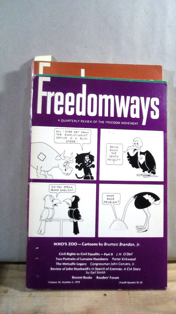 Freedomways A Quarterly Review of the Freedom Movement Vol. 18 Nos. 1-4 1978. Set of 4 magazines.