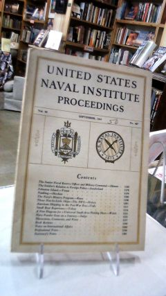 UNITED STATES NAVAL INSTITUTE PROCEEDINGS: Volume 69 September, 1943. No. 487: For the...