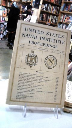 UNITED STATES NAVAL INSTITUTE PROCEEDINGS: Volume 68 November, 1942. No. 487: For the Advancement...