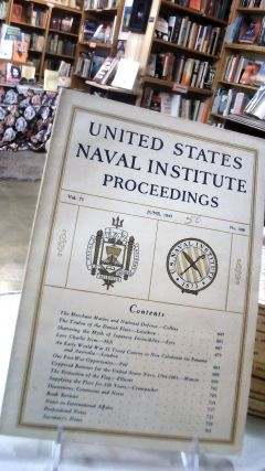 UNITED STATES NAVAL INSTITUTE PROCEEDINGS: Volume 71 September, 1945. No. 508: For the...