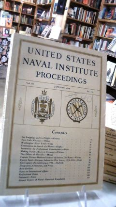 UNITED STATES NAVAL INSTITUTE PROCEEDINGS: Volume 64 January, 1938. No. 419: For the Advancement...