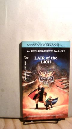 Lair of the Lich. Endless Quest Book #27. Bruce ALGOZIN