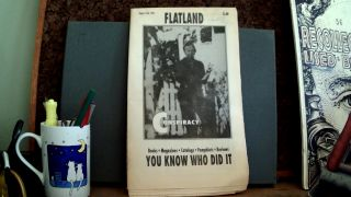 FLATLAND: Special Assassination Issue, August 15th, 1992. Kenn THOMAS, Mark Kronenger, Dale...