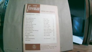 The Freeman A Monthly Journal of Ideas on Liberty Vol. 12 No. 2 February 1962. Paul L. POIROT