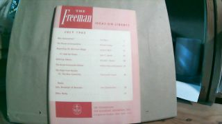 The Freeman A Monthly Journal of Ideas on Liberty Vol. 15 No. 7 July 1965. Paul L. POIROT