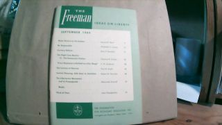 The Freeman A Monthly Journal of Ideas on Liberty Vol. 15 No. 9 September 1965. Paul L. POIROT