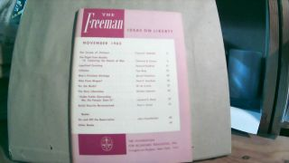 The Freeman A Monthly Journal of Ideas on Liberty Vol. 15 No. 11 November 1965. Paul L. POIROT