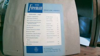 The Freeman A Monthly Journal of Ideas on Liberty Vol. 17 No. 1 January 1967. Paul L. POIROT
