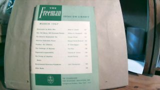The Freeman A Monthly Journal of Ideas on Liberty Vol. 17 No. 3 March 1967. Paul L. POIROT