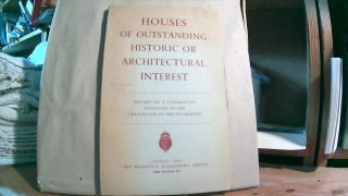 Report of the Committee on Houses of Outstanding Historic or