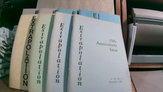 Extrapolation Vol. 15, No. 1 December 1973, Vol. 15, No. 2 May 1974; Vol. 16 No. 2 May 1975, Vol....