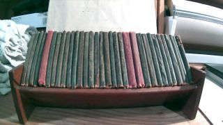 Collection of Little Leather Library books: Poems by Robert Browning; Poems by Robert Burns; The...