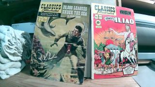 Classics Illustrated No. 47 May 1948 20,000 (Twenty Thousand) Leagues Under The Sea and No. 77...