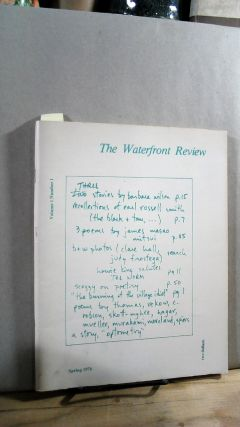 THE WATERFRONT REVIEW. Volume 1, Number 1. Spring 1976. Ron AUER, Jack Pfeifer
