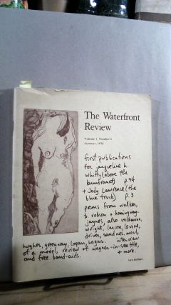 THE WATERFRONT REVIEW. Volume 1, Number 2. Spring 1976. Ron AUER, Ladislav Brank, Jack Pfeifer