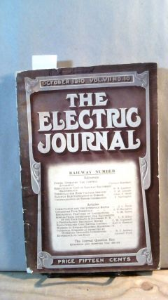 THE ELECTRIC JOURNAL: October 1910, Vol. VII, No. 10. A. H. McINTIRE