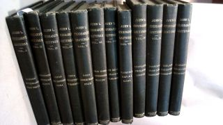 JOHN STODDARD'S LECTURES. 10 volumes plus first 2 supplements. John L. STODDARD
