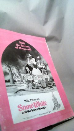 Walt Disney's Snow White and the Seven Dwarfs 1975 Theatrical Re-Release Pressbook and Ad Pads....