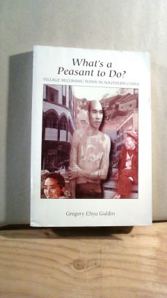 What's A Peasant To Do? Village Becoming Town in Southern China. Gregory Eliyu GULDIN