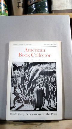 American Book Collector Vol. 5 No. 3 May/June 1984. Anthony FAIR, consulting