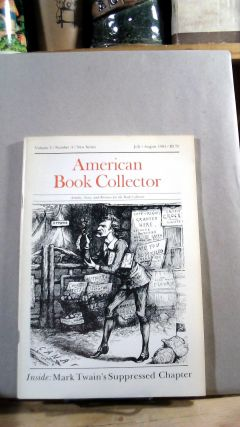American Book Collector Vol. 5 No. 4 July/August 1984. Anthony FAIR, consulting