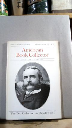 American Book Collector Vol. 5 No. 5 September/October 1984. Anthony FAIR, consulting