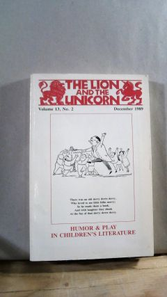The Lion and The Unicorn Vol. 13 No. 2 December 1989. Geraldine DELUCA, Roni NATOV