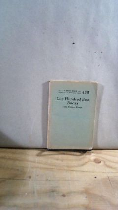 Little Blue Book No. 435 One Hundred Best Books. John Cowper POWYS