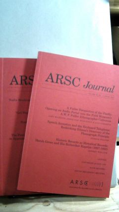 ARSC Journal Vol. 38 Nos 1 and 2 Spring/Fall 2007. Barry R. ASHPOLE