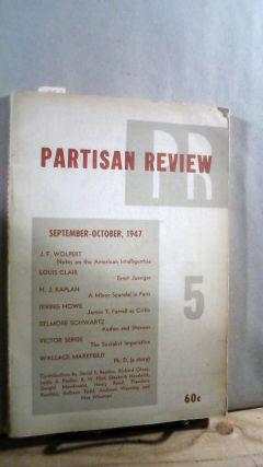 Partisan Review Vol. XIV No. 5 September-October 1947. William PHILLIPS, Philip RAHV