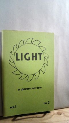 Light: A Poetry Review Vol. 1 No. 2. Roberta C. GOULD