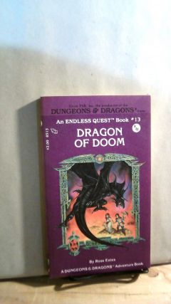 Dragon of Doom. Dungeon & Dragons Endless Quest Book #13. Rose ESTES