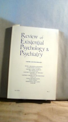 Review of Existential Psychology & Psychiatry Vol. XVII No. 1 1980-1981. Keith HOELLER