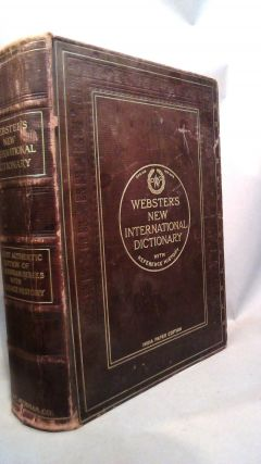 Webster's New International Dictionary of the English Language With Reference History. India...